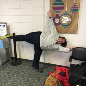 My strengths help make it so I am fine doing yoga anywhere.