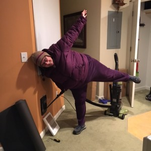 I decided to practice yoga today while fixing the wall heater. As you can tell it was a bit cold in the office so I was able to do triple duty by doing the happiness yoga practice.