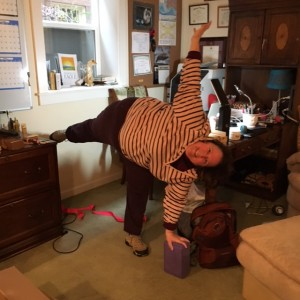 Practicing half moon in between today's writing projects. Developing more trust in my capabilities to do this pose.