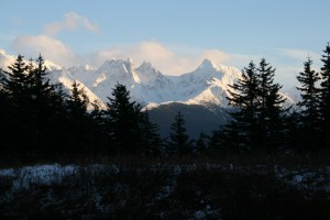 November Sky at 3:00 PM Over Lynn Canal, Alaska