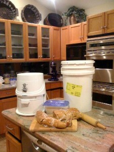 The first part of the flour experiment - make my own bread.