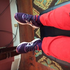 It always tickles me when I find sneakers that match wild colored pants.