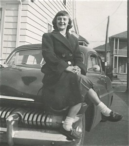 My Mother in 1955 - This is a picture she sent to my father when he was stationed in Japan.   This is what I think she looks like in heaven as when we die I would to believe we all revert back to how we looked in our early twenties.