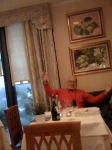 Being Serenaded by An Admirer at the Trattoria